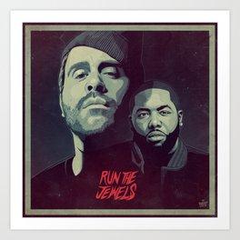 RUN THE JEWELS Art Print