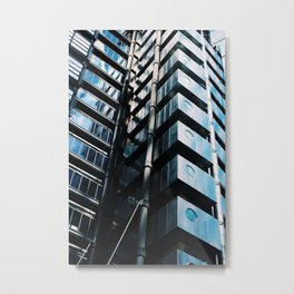 Mirrored Apartments Metal Print