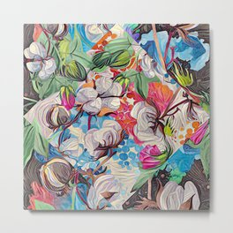 Cotton and more floral Metal Print