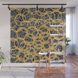 Abstract Beehive Yellow & Black Pattern Wall Mural