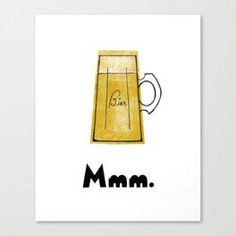 Mmm. Bier Canvas Print