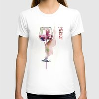 wine T-shirts featuring Wine by tatiana-teni
