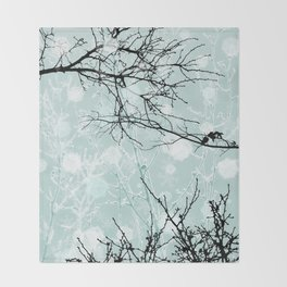 Winter Branches - Graphic Throw Blanket