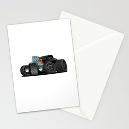 Hot Custom Black Street Rod Coupe Stationery Cards