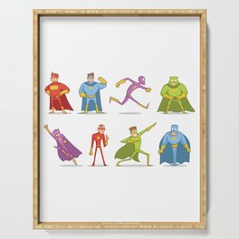 Funny Superheroes Serving Tray