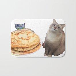 Pancake cat Bath Mat