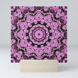 Kaleidoscope of purple multi flowers Mini Art Print