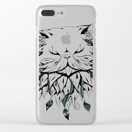 Poetic Persian Cat Clear iPhone Case