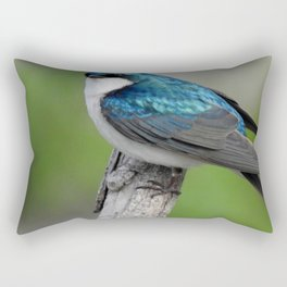 Male Tree Swallow II Rectangular Pillow