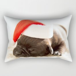 Christmas dog Rectangular Pillow