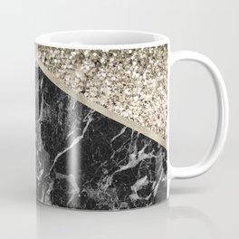 Shimmering golden chevron black marble Coffee Mug