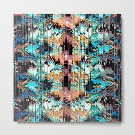 Colorful Abstract In Shreds Metal Print