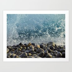 splash of waves Art Print