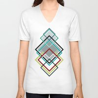 diamonds V-neck T-shirts featuring Diamonds by AJJ ▲ Angela Jane Johnston