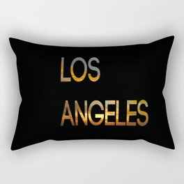Los Angeles Sunset Tyography Rectangular Pillow