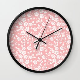 Seamless Flower Wall Clock