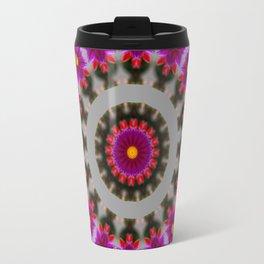 Abstract Dahlia Travel Mug