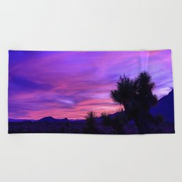 Desert Sunset - Mormon Mountains Wilderness, Nevada Beach Towel