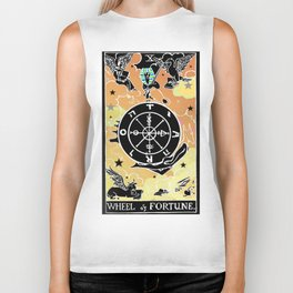 Tarot Wheel of Fortune Biker Tank