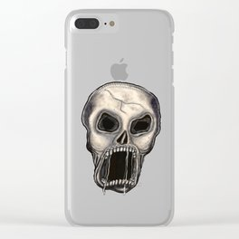 Scary Skull Clear iPhone Case