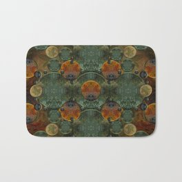 """Glass candy Mosaic (caramel pattern)"" Bath Mat"