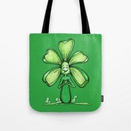 """Green"" Color Chakra Flowerkid Tote Bag"