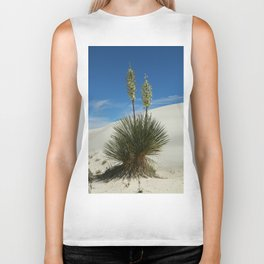 Soap Yucca In The White Sands Dunes Biker Tank