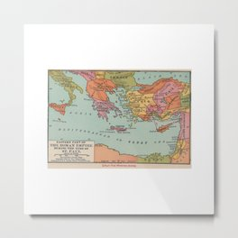 St Paul Missionary Journey in Eastern Roman Empire Metal Print