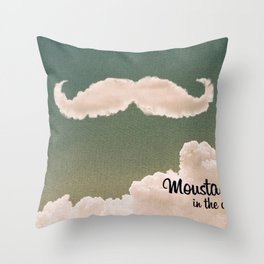 Mustache In the Cloud Throw Pillow