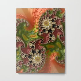 Psychedelic, abstract, multi-color, fractal, stunning detail art Metal Print