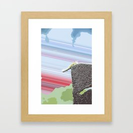 """""""Don't Go There"""" Cute Insect Art by Murray Bolesta! Framed Art Print"""
