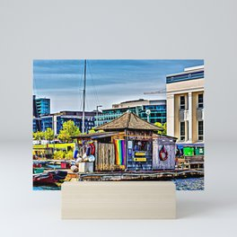 Oarhouse at Center for Wooden Boats Mini Art Print