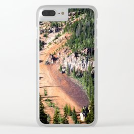 Gold Mine Tailings Slide Clear iPhone Case