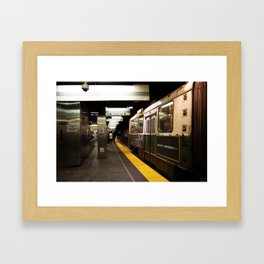 Red Line Framed Art Print