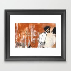 Talking to myself Framed Art Print