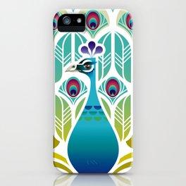 Indian Blue Peacock [Pavo Cristatus] iPhone Case