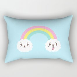 Rainbow Bichon Rectangular Pillow