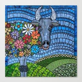 Le Taureau à Mille Fleurs Canvas Print