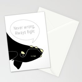 Never wrong, Always Right Stationery Cards