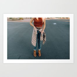 flannel and boots Art Print