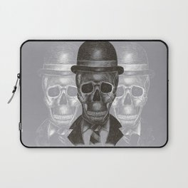 Worked To Death (Grey version) Laptop Sleeve