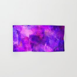 Ultra Violet Paint Abstract Hand & Bath Towel