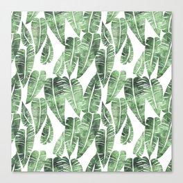 Island Goddess Leaf Green Canvas Print