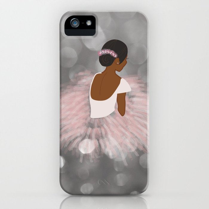african american ballerina dancer iphone case