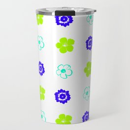 Colorful Flower Pattern Travel Mug