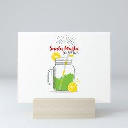 Santa Marta: Summer, sun, sea & smoothies Mini Art Print