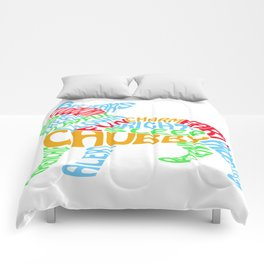Frenchie Word Cloud Comforters