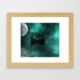 Solar Swan Framed Art Print