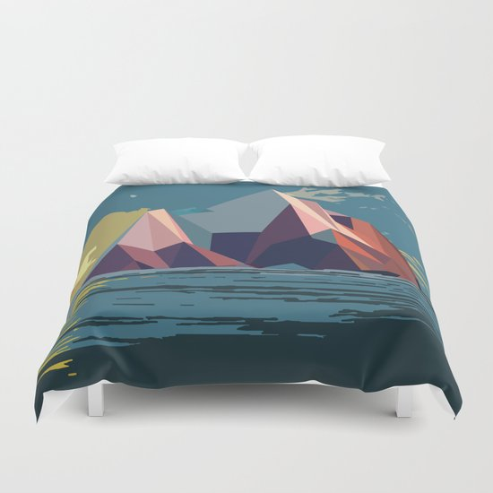 Night Mountains No. 4 Duvet Cover