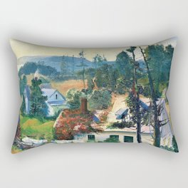 George Wesley Bellows - The Red Vine, Matinicus Island, Maine - Digital Remastered Edition Rectangular Pillow